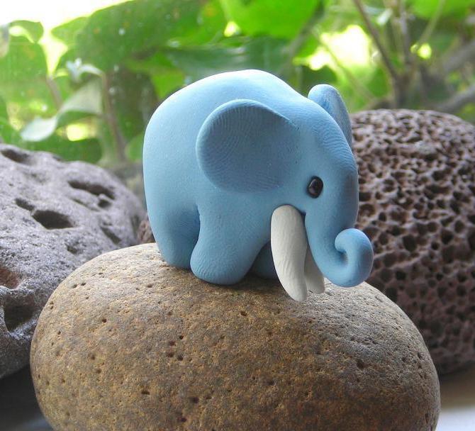 Слон из пластилина 1